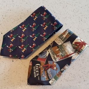 Lot of 2 Golf Theme Ties